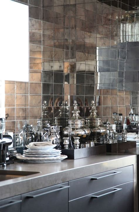 mirrored kitchen backsplash kitchens mirror tiles mimosa lane