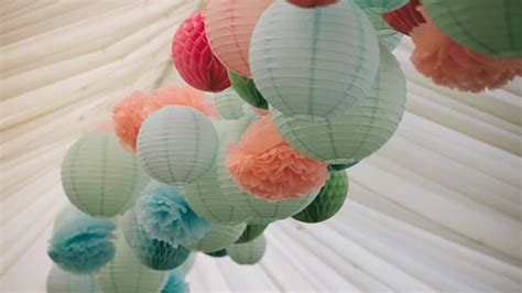 How To Make Paper Lantern Balls - paper lanterns honeycomb balls and tissue pompoms