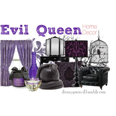 evil home decor quot evil queen quot by disney villains on polyvore lots of other disney fashion or home decor quot ideas