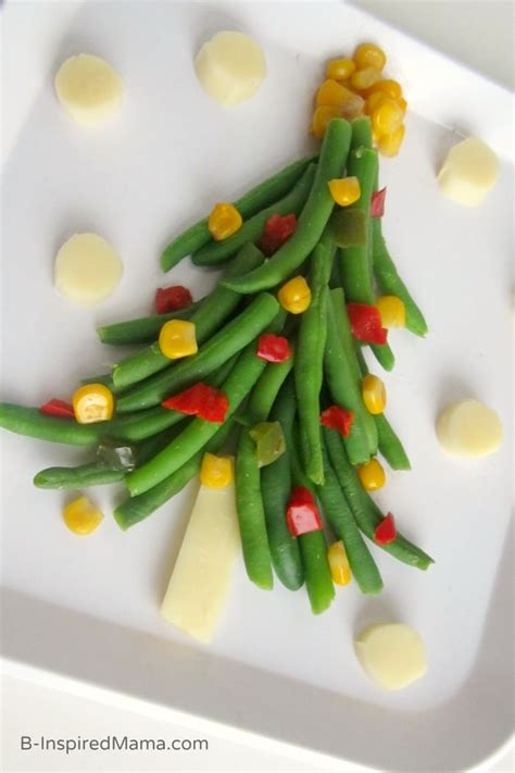 a christmas tree of vegetables for kids b inspired mama