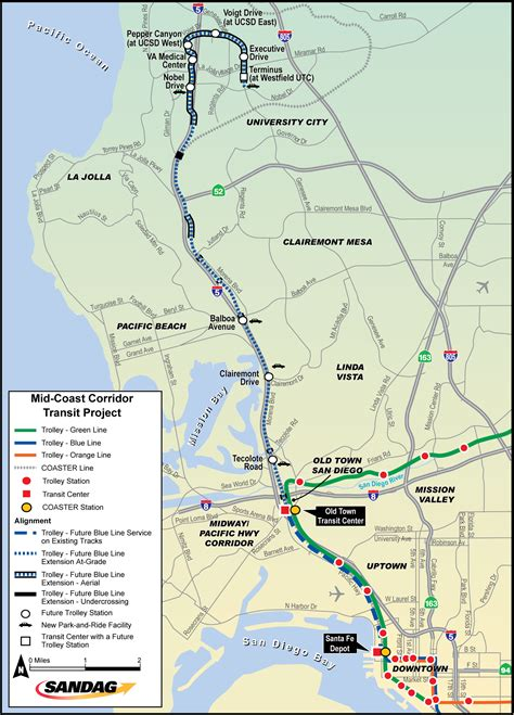 california map extensions mid coast trolley project work begins on genesee