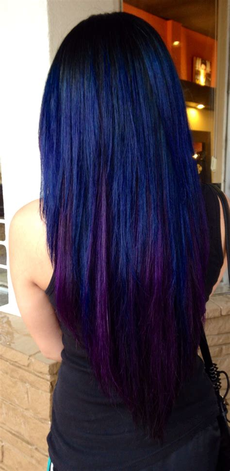 black violet hair color black blue and violet hair hair and hair