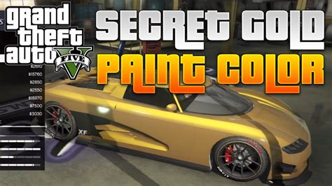 gta 5 quot secret gold paint color quot quot get gold cars quot gta 5 tips tricks