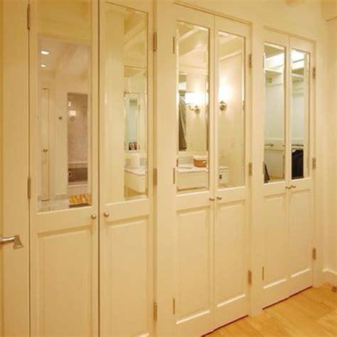 Half Closet by Half Mirrored Doors Home