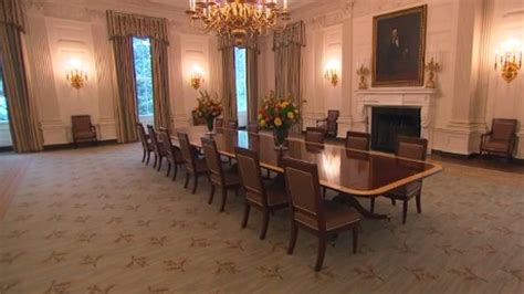 State Dining Room White House by White House Unveils Redecorated State Dining Room