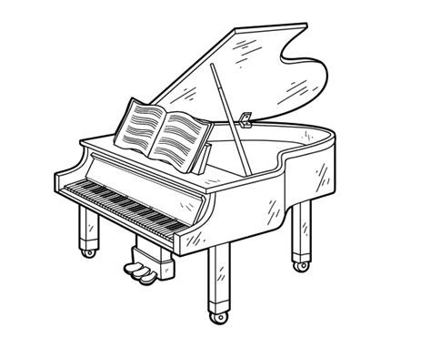 piano coloring pages a grand piano open coloring page coloringcrew