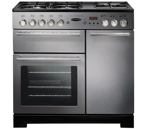 rangemaster platinum 90 dual fuel range cooker stainless steel chrome