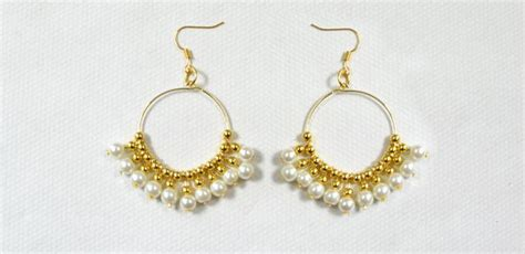 how to make gold beaded jewelry wedding earring design how to make gold beaded