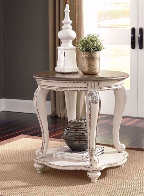 realyn white  brown   table  furniture mart