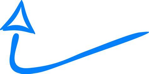 sketchbook transparan kostenlose vektorgrafik pfeil zug bis blau