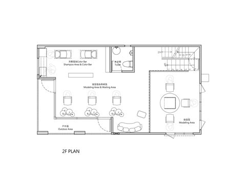 hair salon floor plans download gallery of renovation of split level hair salon
