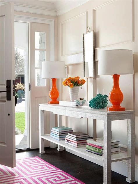 Colorful Entryway Table How To Style An Entryway Table Huffpost