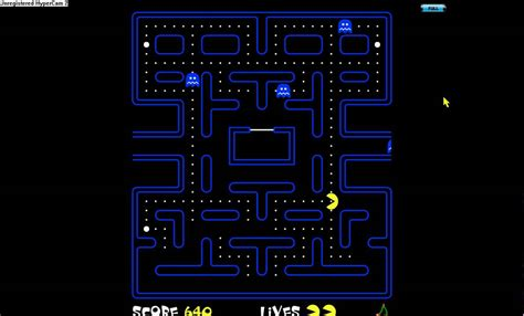 pacman screen play pac offline in screen mode