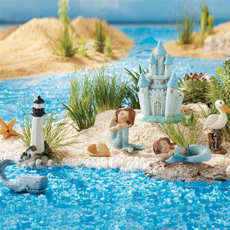 Summer Kitchen Ideas once upon a garden miniature mermaid garden set 8 piece