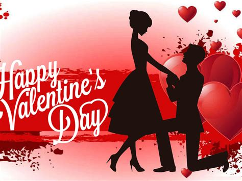 happy valentines day red heart love couple