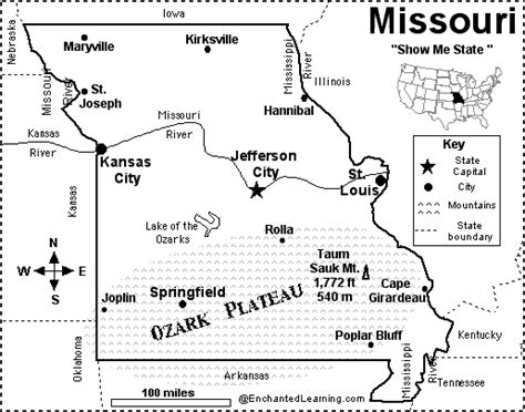 missouri map test missouri map quiz printout enchantedlearning