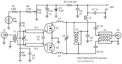 300 Watt Lifier Circuit Diagram by Rf Linear Lifier Schematics Rf Get Free Image About