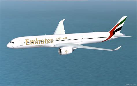 emirates a350 fs2004 emirates a350 1000 xwb v2 airliners 20699