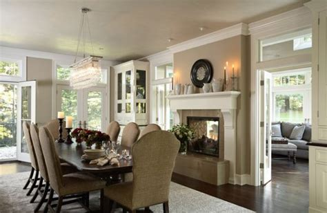Great Dining Rooms Dining Room Fireplace Ideas For Winter Nights