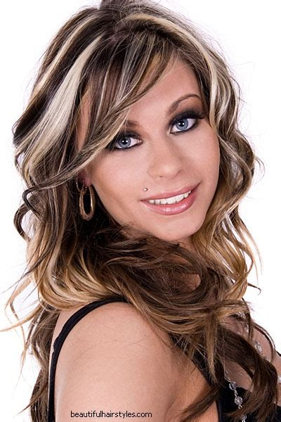 blonde highlights pictures 2011 dark brown hair with blonde highlights underneath
