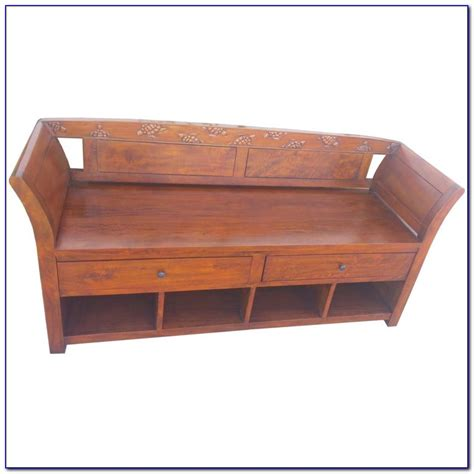 mission style bench with shoe storage mission style bench with seat cushion and shoe storage