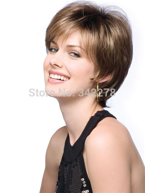 New Fashion Boy Sa51 Brown fashion new womens womens cut hairstyle synthetic wigs