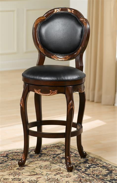 bar stools with backs and swivel antique upholstered swivel bar stool with round back