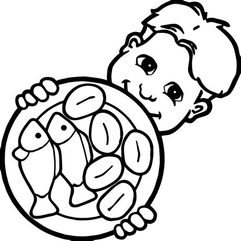 fish coloring pages 5 5 loaves and 2 fish child coloring page wecoloringpage