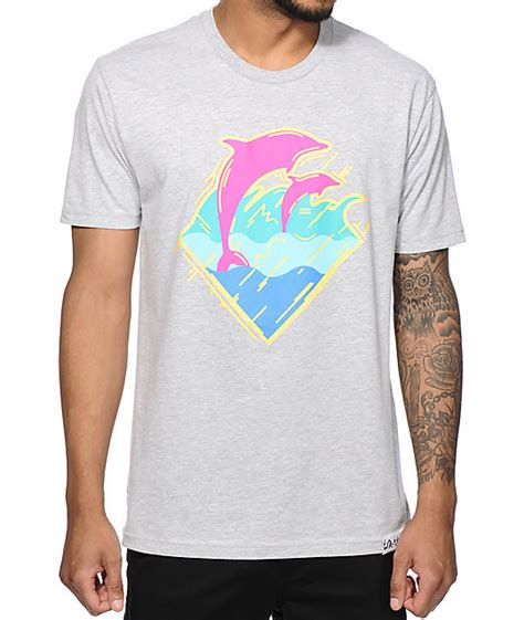 Tshirt 90 S pink dolphin 90s wave t shirt