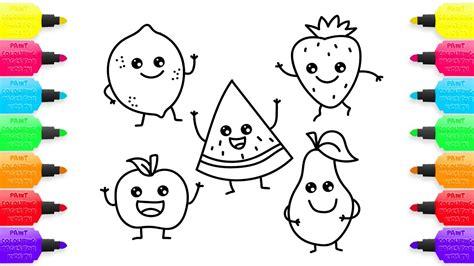 coloring for creativity how to draw fruit coloring pages for