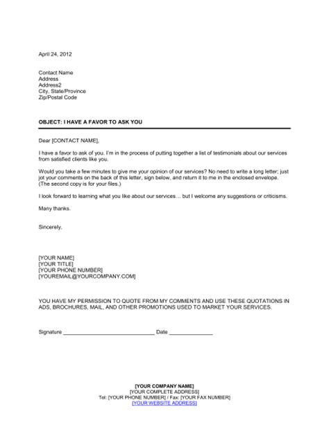 testimonial template sle of a business testimonial letter 1000 images