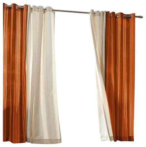 Orange Striped Curtains Outdoor Decor Gazebo 50 X 84 Striped Grommet Top Window Panel Orange Contemporary Curtains