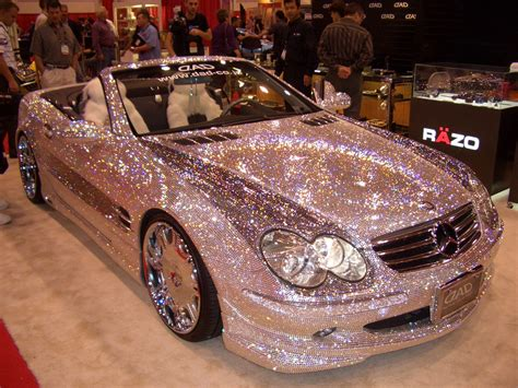 gold glitter car mercedes bling bling cool roadster convert photo page