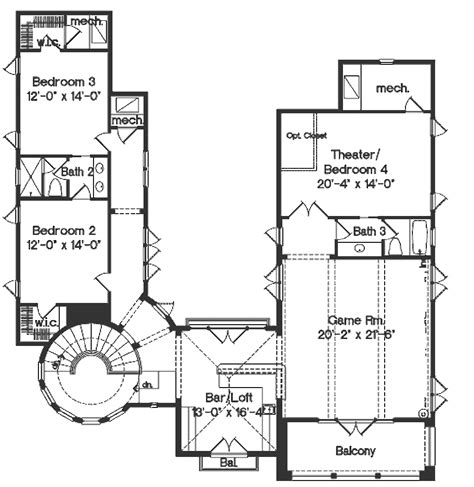 hollis 2432 3 bedrooms and 2 baths the house designers endearing 20 house plans design inspiration of hollis