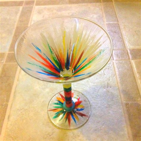 martini glass painting painted martini glass painting inspiration