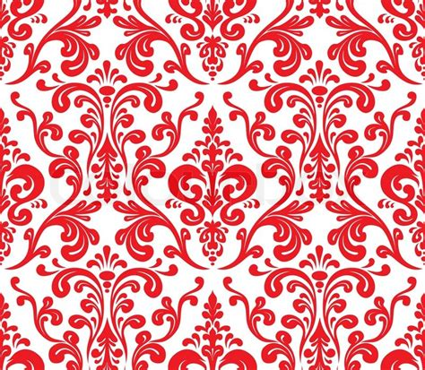 red pattern vector red and white pattern background