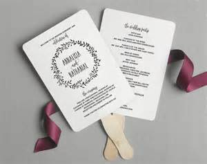 wedding program fans diy template wedding program fan wedding program printable rustic
