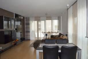 raffgardinen wohnzimmer langer wohnzimmer schiebevorhang in braun gardinen deko