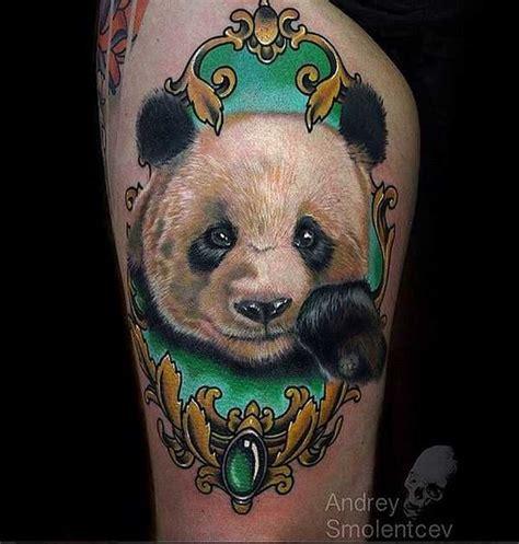 tattoo panda no pé 220 ber 1 000 ideen zu b 228 r tattoos auf pinterest