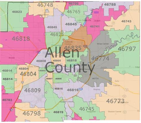 Us Address Lookup By Zip Code Allen County Real Estate By Zip Code Map Fort Wayne Real Estate