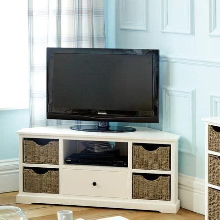 could put baskets on shelves to dress up ikea units like this cottage ivory corner tv unit