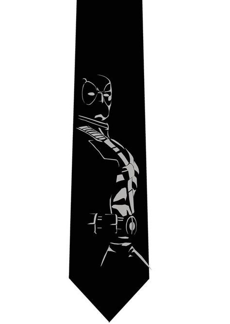 deadpool silhouette s necktie by thehydratiecompany on