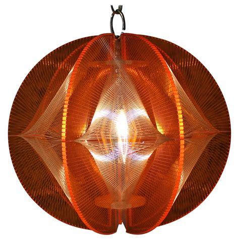 mid century modern lucite geometric string light fixture