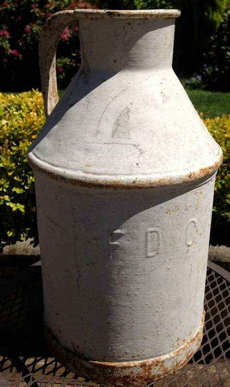 Milk Can Ls by Antique Dairy Metal Milk Can Farmhouse Decor Rustic
