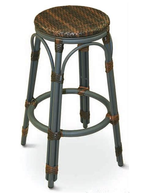 Patio Bar Stools by Florida Seating Backless Outdoor Safari Aluminum