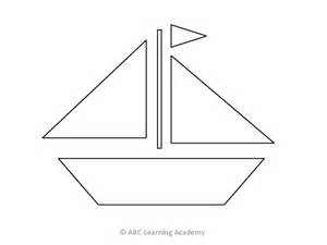 sailboat template for preschool 12 best images of sail boat printable shapes worksheets
