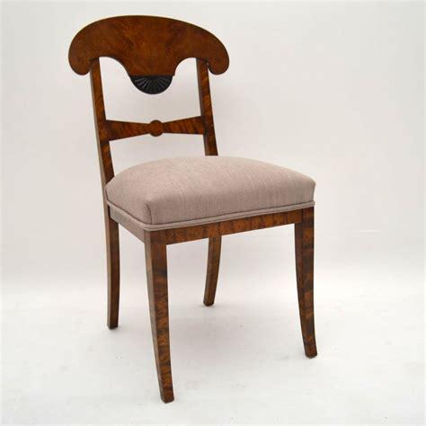 6 Antique Swedish Satin Birch Biedermeier Dining Chairs 6 Dining Chairs