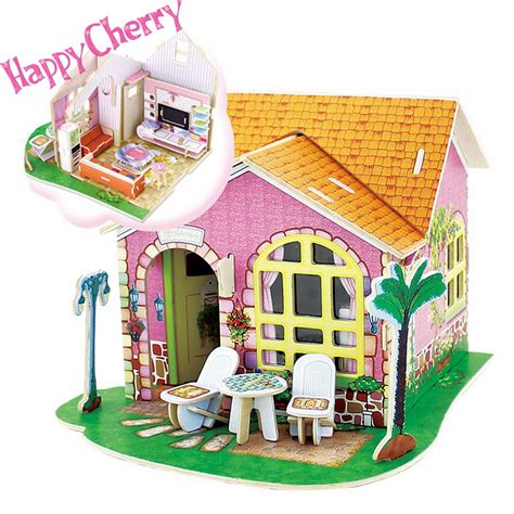 3d Wood Puzzle Store House Puzzle Kayu home wooden puzzle promotion shop for promotional home