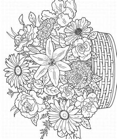 detailed coloring pages for adults flowers image detail for free printable coloring pages for adults