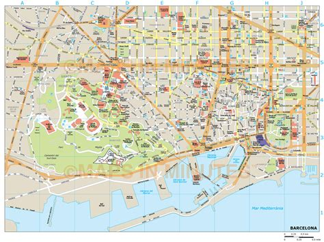 pdf maps barcelona city map